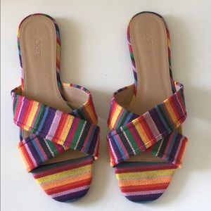 Rainbow Criss Cross Sandals